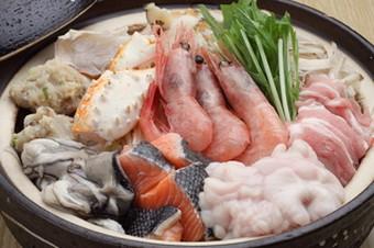 海鮮たっぷり!自慢の海鮮寄せ鍋を楽しめるコースです 会合にオススメ!