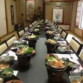 お食事会やクラス会、ご法事など、大・小ご宴会に対応できます