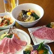 スタミナ満点の国産黒毛和牛の焼肉を食べて、発汗作用があるので美容や健康にも良いとされる唐辛子を使用した韓国料理を食べれば、自然とビールも進みます。