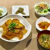 豚肉の生姜焼丼ランチ