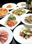 旬の魚のカルパッチョからパスタ、メイン料理にデザートもついた大満足のデラックスコースです。