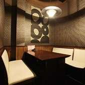 カップルや女性客に人気の洋風半個室