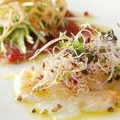 鮮魚のカルパッチョ盛合せ
