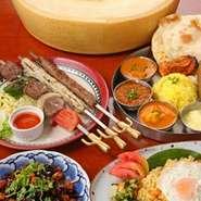 レバノン料理、インド料理、四川料理、インドネシア料理、地中海料理を一挙に楽しめるコンセプトバーとなっております。