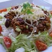 3種豆のメキシカンタコライス