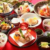 懐石料理(写真は8800円)