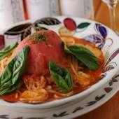 フレッシュトマトとモッツァレアチーズの生パスタ