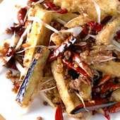 ニンニク入り茄子の山椒ピリ辛炒め