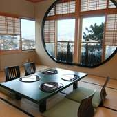 函館の100万ドルの夜景を眺めながら、贅沢会席で春先のお祝いを