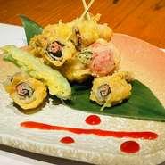 【高宮鶏】ササミと梅しそのパリパリ揚げ