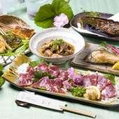 馬刺し・馬ホルモン・川魚料理・各種田楽などの単品料理