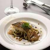 天然真鯛のポワレ バルサミコソース