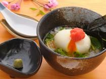 明太子と半熟卵の揚げだし茶漬け 680円