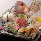 北海道で朝獲れた魚介を使用!『刺盛』