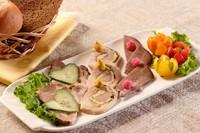 "Assorted cold meat ""ZAKUSKA"". 牛タン、自家製ハムなどの本日の盛り合わせ"