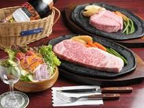 特選松阪牛のステーキも是非お楽しみください。