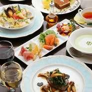 お好きなパスタorピザ、肉料理or魚料理が選べる大満足の贅沢コースです