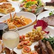 女子会にはコース料理がオススメ! 貸切は40名までOK! 美味しいお料理と共に、ゆったり楽しい時間が過ごせる空間です。