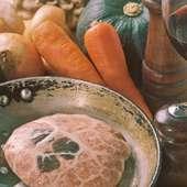 粗挽肉の網脂包み トリュフの香り
