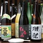 こだわり厳選の焼酎。日本酒、梅酒をご用意しております。