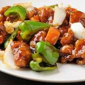 酢豚風の【黒酢鶏】は鶏肉と黒酢でとってもヘルシー