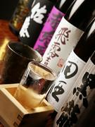 日本酒、焼酎の種類は豊富