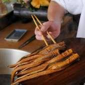 羽田沖の新鮮な穴子、味もさることながら香りも抜群です