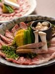 自慢のお肉をお腹一杯お楽しみください。(70分間)