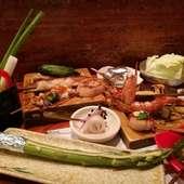 30種類以上をご用意、旬の味覚を串焼きでお楽しみ頂けます。