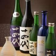 和食、寿司と相性抜群の銘酒「十四代」。是非ご賞味下さい。
