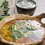茶碗蒸しをオーブンで焼いて、だしをかけて食べます。