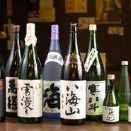 プレミアム焼酎、日本酒から定番まで種類も豊富です。せいきんオリジナル日本酒ございます。