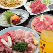 串焼き、七輪焼きなど新鮮なお肉を使用しています。卸直送ならではの素材の味を堪能できます。