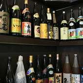 酒類他飲物は持ち込みOKですが、面倒な方はおいしい焼酎が多数。