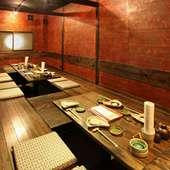 思わずくつろいでしまう個室でゆったりとご宴会。コース3000円~