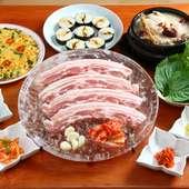 サムゲタン。サムギョプサル。タッカルビ。韓国料理なら【天蜜】