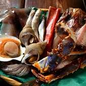 オホーツク産の新鮮魚介