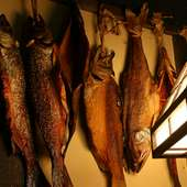 鮭の燻製も雰囲気出てます