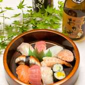 にぎり寿司 新鮮なネタ、本物の旨い寿司 1000円