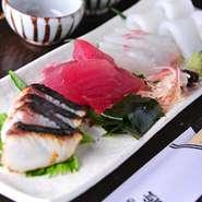 コストパフォーマンスには自信あり!旬の魚が少しずつ召し上がれます。
