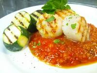 - Capesante alla griglia con salsa di gazpacho