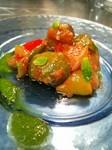 冷製 『 カポナータ 』 - Caponata fredda con salsaverde al basilico -