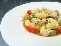 - Gnocchi freddi con gamberetti rosa freschi e pomodoro verace all'uve -