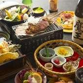 名物の大和牛をはじめ料理長厳選の地元・奈良の旬をご堪能戴ける、大満足間違いなし!