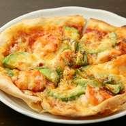 ピザ生地 ピザソース すべて手作りの本格ピザ