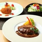旬の野菜や知多産の肉料理を洋食スタイルでご提供