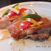 夏野菜を使った鶏料理
