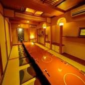 プライベートな時間を確保した18名様用の完全個室