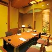 完全個室も多数完備。ビジネスシーンにも活躍します
