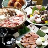 宴会コースございます。お料理6品+2時間飲み放題3500円~